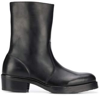 mid-calf zip-up boots
