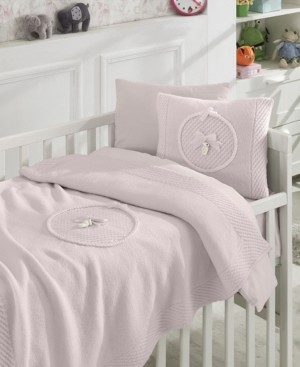 Nipperland Teddy Premium 6 Piece Crib Bedding Set Bedding