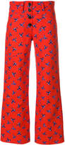 Kenzo floral cropped trousers