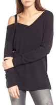Treasure & Bond Women's Asymmetrical Cold Shoulder Sweater
