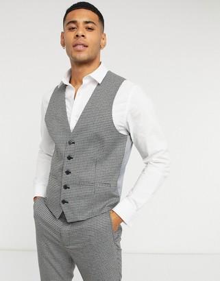 Rudie checked skinny fit suit suit vest
