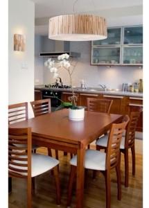Elk Lighting Modern Organics-5-Light Pendant in Bamboo Stem Material in Polished Chrome