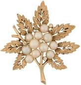Susan Caplan Vintage 1960s gold-plated Trifari brooch