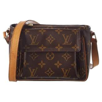 Louis Vuitton Brown Suede Handbag