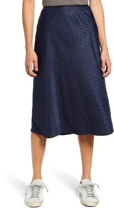 Chelsea28 Bias Jacquard Skirt