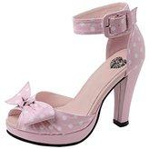 T.U.K. Women's Polka Dot Peep Toe Starlet Heel Platform Pump