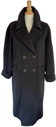 Gerard Darel Anthracite Wool Coat for Women Vintage