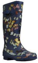 F&F Butterfly Print Fleece Lined Wellies, Women's