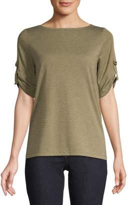 Jones New York Ruched Short-Sleeve Top