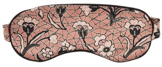 Morpho + Luna Jemma Mirage-print Silk Eye Mask - Womens - Pink Multi