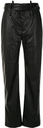 Delada Raw-Edge Ripped Trousers