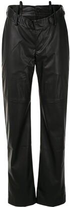 Delada Raw-Edge Ripped Trousers