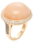 Rina Limor Fine Jewelry 18K Rose Gold, Moonstone & 1.20 Total Ct. Diamond Cocktail Ring
