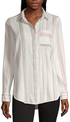 Liz Claiborne Womens Long Sleeve Tunic Top