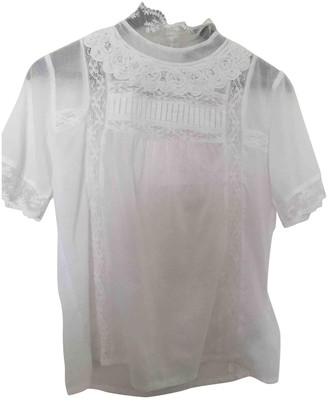 SET White Cotton Top for Women