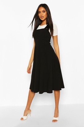 boohoo Pinafore Midi Skater Dress