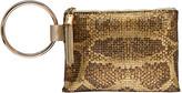 Whiting & Davis Python Tassel Wristlet Bag