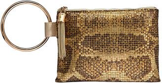 Whiting & Davis Python Tassel Wristlet Bag