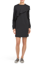 Juniors Ruffle Sweatshirt Dress