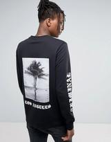 Criminal Damage Long Sleeve T-shirt With Sleeve And Back Print