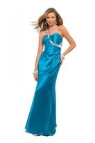 Blush Lingerie One Shoulder Pleated Long Dress 9572