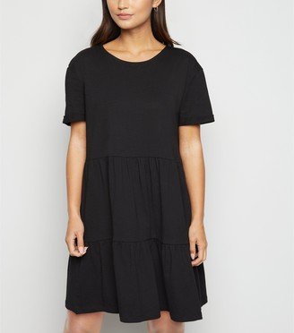 New Look Petite Short Sleeve Smock Dress