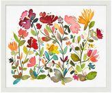 Pottery Barn Oversize Floral Pattern Framed Print