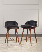 Thumbnail for your product : Arteriors Beaumont Leather Counter Stool
