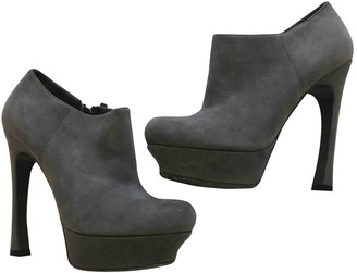 Saint Laurent Grey Suede Ankle boots