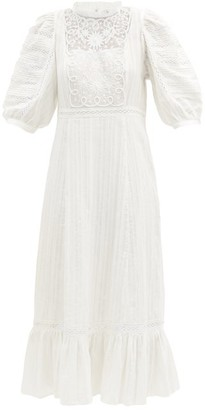 Sea Ona Embroidered Cotton-voile Dress - White