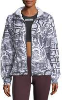 adidas by Stella McCartney Run Zip-Front Printed Performance Jacket