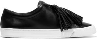 Loeffler Randall Logan Tasseled Leather Sneakers