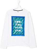 Karl Lagerfeld printed long sleeved T-shirt