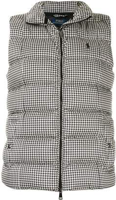 Polo Ralph Lauren houndstooth print padded gilet