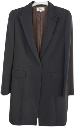 Giorgio Armani Navy Wool Coat for Women Vintage