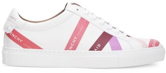 Givenchy Urban Street Logo Stripe Leather Sneakers