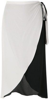 BRIGITTE Silk Wrap Skirt