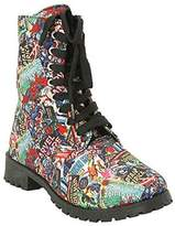 Marvel Comic Womens Print Combat Boot (Size 8M)