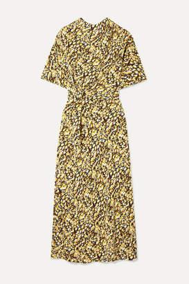 Stine Goya Rhode Floral-print Silk Crepe De Chine Midi Dress