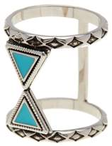 Ariella Collection Double Triangle Ring