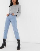 Topshop straight leg jeans in bleach wash