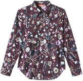 Joe Fresh Women's Floral Button Down Shirt, Olive (Size XL)