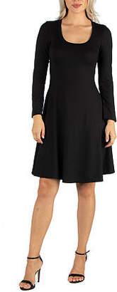 24/7 Comfort Apparel Flared T-Shirt Dress