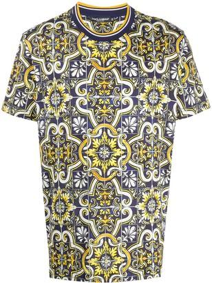 Dolce & Gabbana tile-print T-shirt