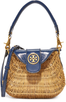 Tory Burch Rattan Straw Cabas Bag