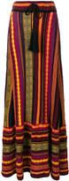 Laneus embroidered flared skirt