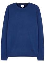 Armani Collezioni Blue Fine-knit Wool Jumper