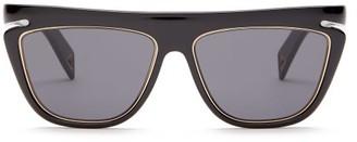 Fendi Metal-trim D-frame Acetate Sunglasses - Black