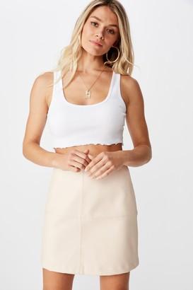 Supre Danielle Aline Faux Leather Skirt