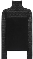 Polo Ralph Lauren Lace-panelled Silk-blend Sweater